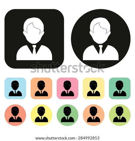 Office people icon. Man. vector - stock vector