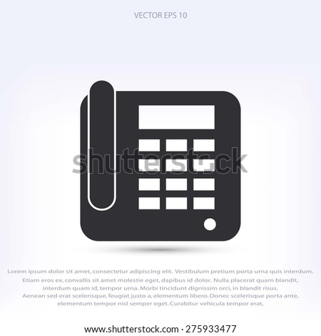 Office Phone Icon - stock vector