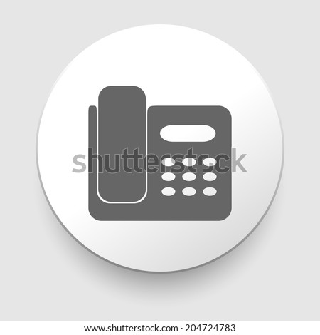 Office Phone Icon. Vector illustration on white background. EPS10 - stock vector
