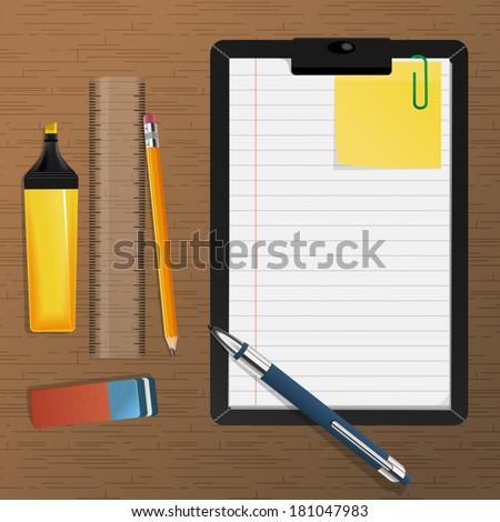 Office Stuff - stock vector