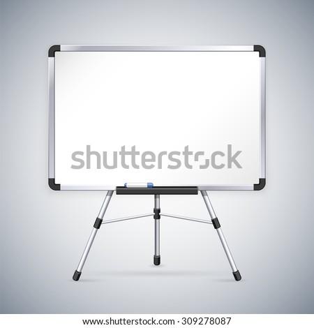 Office Whiteboard on Tripod - stock vector