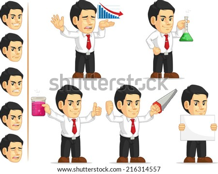 Office Worker Customizable Mascot 5 - stock vector