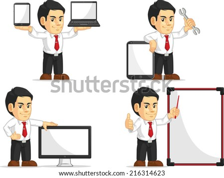 Office Worker Customizable Mascot 14 - stock vector