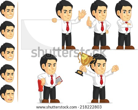 Office Worker Customizable Mascot 2 - stock vector