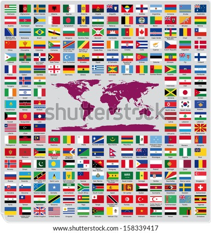 Official country flags  - stock vector
