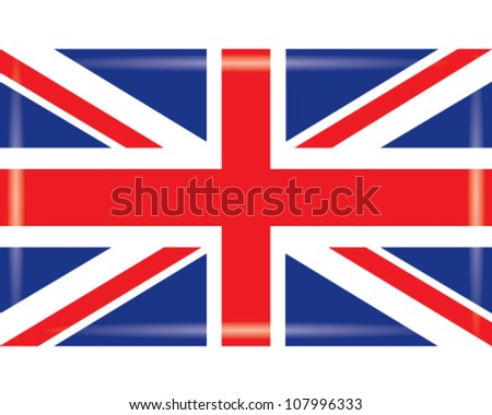 official flag of great britain - stock vector