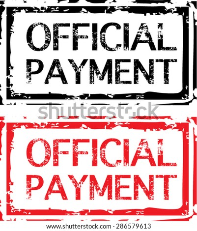 Official Payment Grunge Stamp Vector - stock vector