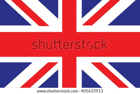 Official UK flag of the United Kingdom, Union Jack - stock vector