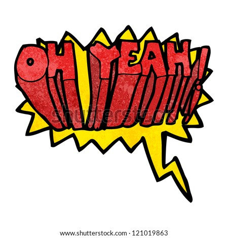 oh yeah! comic book shout - stock vector