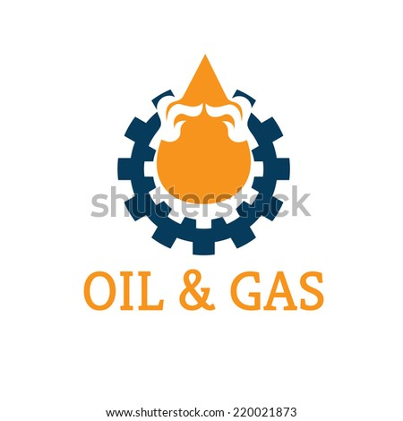 oil and gas industry vector design template - stock vector