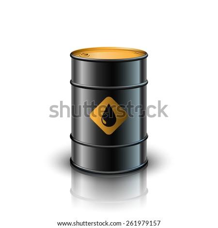Oil barrel - stock vector