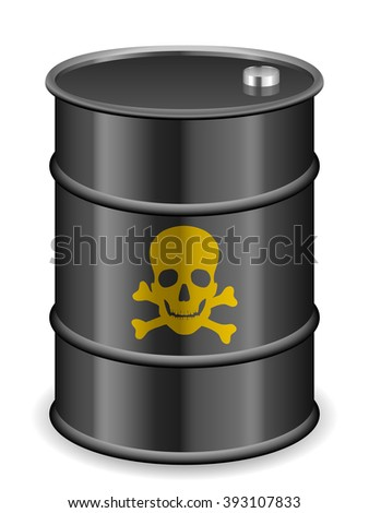 Oil barrel on a white background. - stock vector