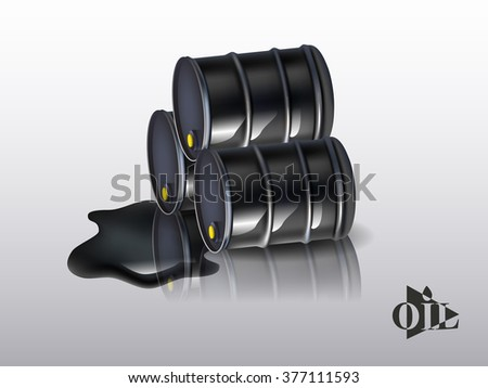 Oil barrels on a white background. vector - stock vector