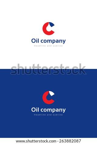 Oil company logo teamplate. - stock vector