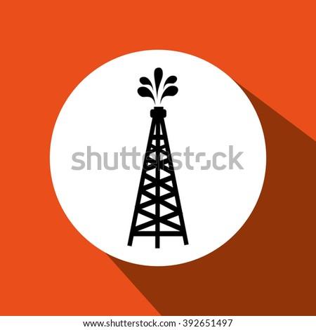 oil industry icon design  - stock vector