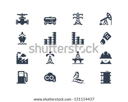 Oil industry icons - stock vector