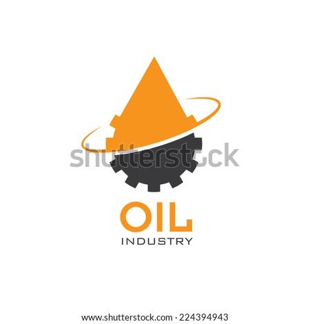 oil industry vector design template - stock vector