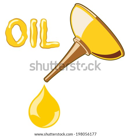 Oil Lubricator with oil. no mash no gradient - stock vector