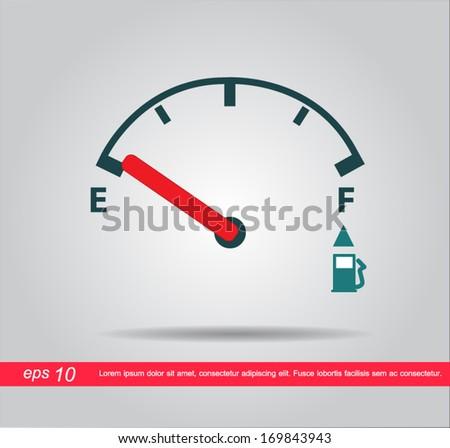 oil meter vector icon - stock vector