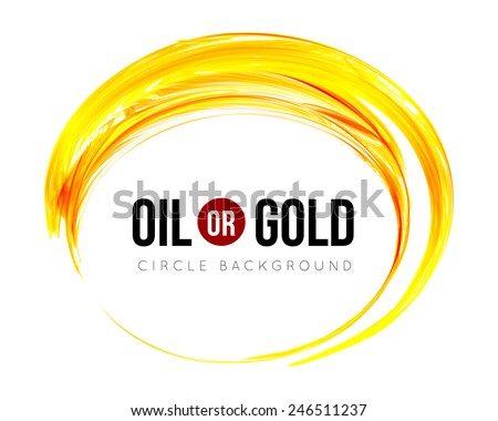 Oil or gold  - stock vector