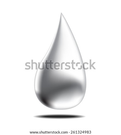 oil or water drop, vector illustration - stock vector