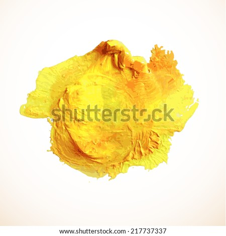 Oil painted background. Vector illustration.  - stock vector