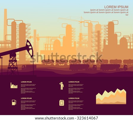 oil plant - stock vector
