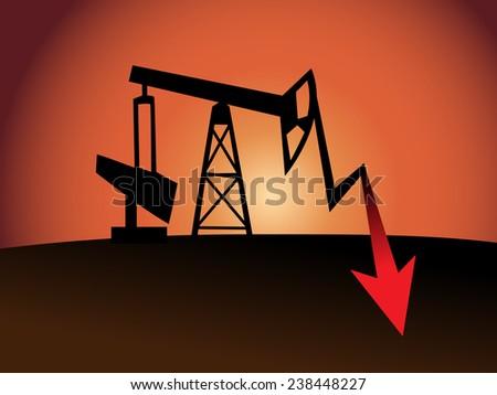 oil price crisis  - stock vector