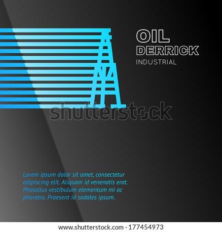 Oil rig icon. Vector illustration. - stock vector