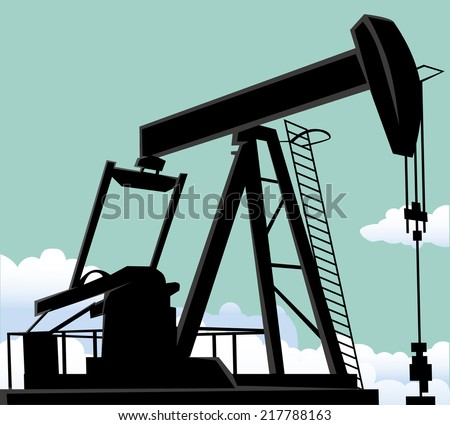 Oil well - stock vector