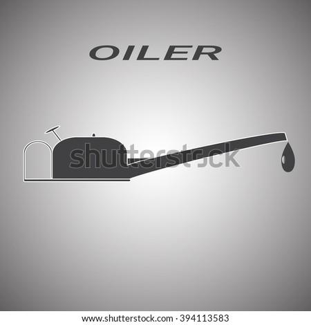 oiler icon - stock vector