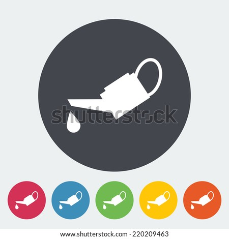 Oiler. Single flat icon on the circle. Vector illustration. - stock vector