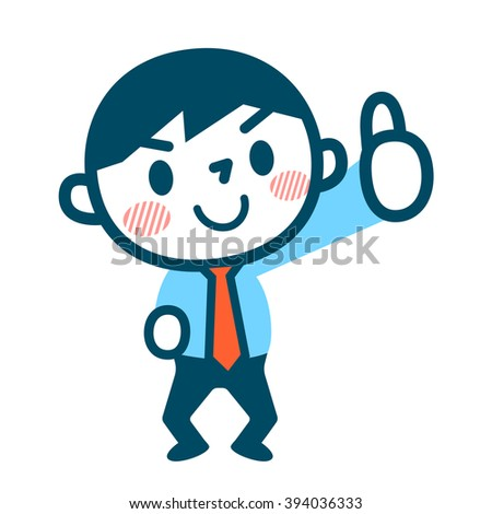 OK sign of businessman - stock vector