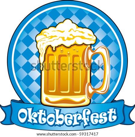 Oktoberfest beer label, detailed vector illustration - stock vector