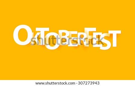 Oktoberfest paper letters, origami style.Vector illustration. - stock vector