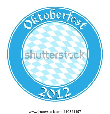 Oktoberfest round banner - stock vector