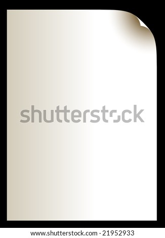 Old blank paper. Vector illustration. - stock vector