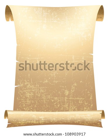 old blank parchment scroll vector - stock vector