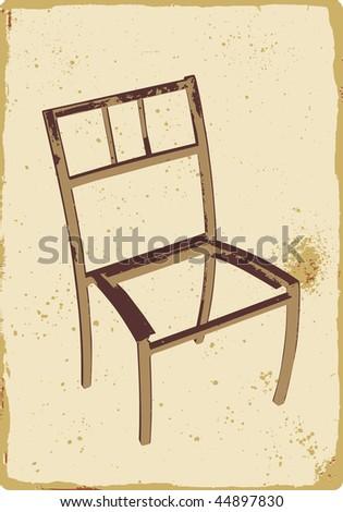 Old broken chair stock vector