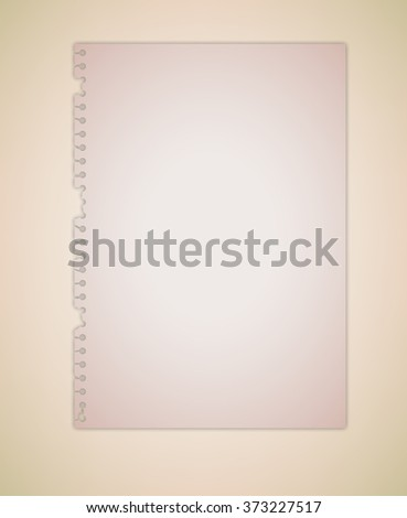 Old Brown Paper Vector - stock vector