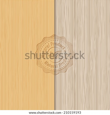 Old brown wooden texture - Vector wood backgrounds - stock vector