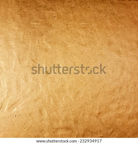 Old Cardboard Realistic Texture For Your Design. EPS10 vector. - stock vector
