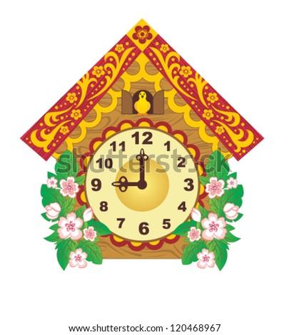 Old clock - stock vector