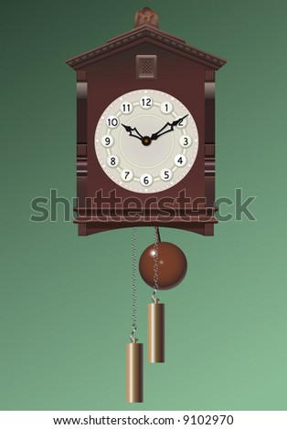 Old clock. A vector illustration. - stock vector