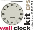 old clock face vector kit - stock vector