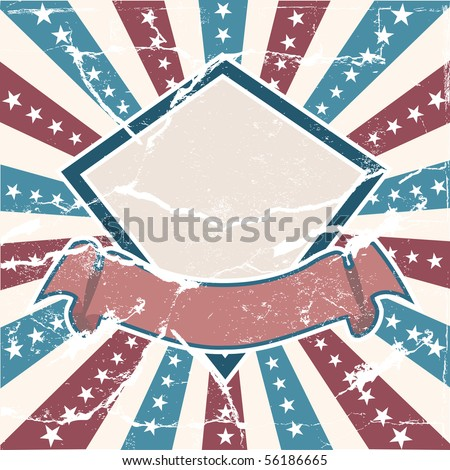 Old Colors American Background in grunge style - stock vector