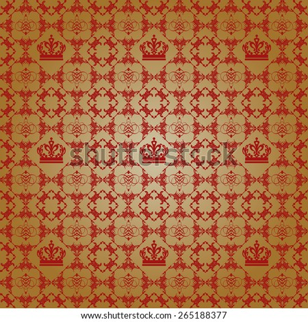 Old decorative wallpaper. Vector image. Abstract background art - stock vector