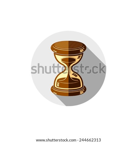 Old-fashioned simple hourglass, time management business icon. Time is running out conceptual symbol. - stock vector