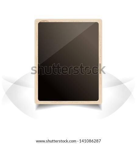 Old Foto Frame. Grunge Vector Illustration. - stock vector