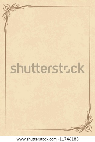 old frame (vector) - stock vector
